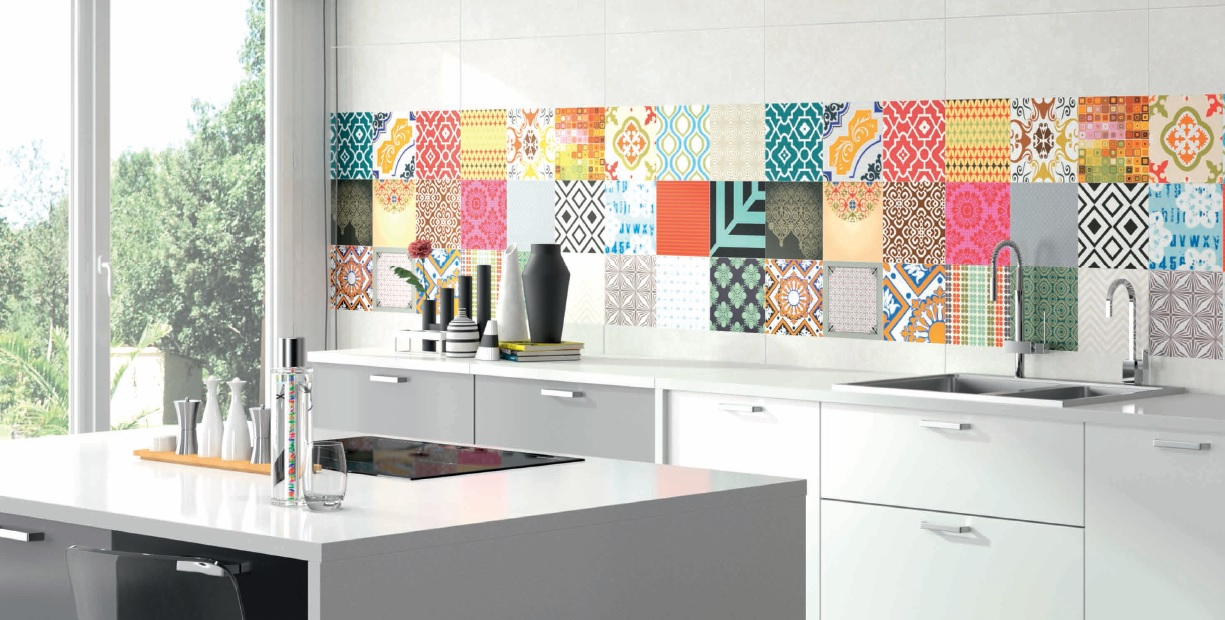 Pin azulejos muebles para decoracion living casas - Vinilos para azulejos de cocina ...